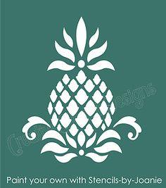Pineapple Stencil Colonial Folk Art