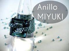 Abalorios Manualidades - Anillo Miyuki con Swarovski Elements - YouTube