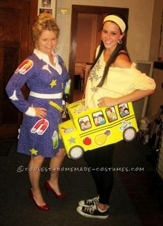 Fun Magic School Bus and Ms. Frizzle Halloween Costume