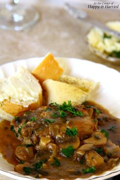 Coq au Vin {Chiken In A Red Wine Sauce}