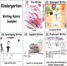 Visual Writing Rubric for K