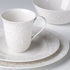 casual white on white dishes - Google Search