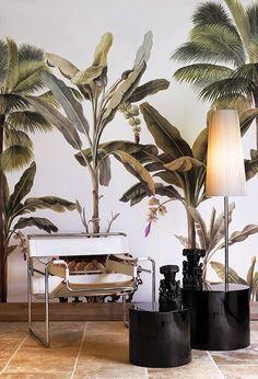 ORGANIC SUCH AS BOTANICAL-Wallpaper Ananbô #PredellaHouseideas #Interiordesign #Predellaart