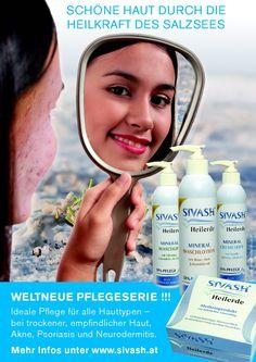 Sivash Heilerde und Heilderde Pflegeprodukte können bei Hautproblemen wie Akne, Ekzemen, Psoriasis und Neurodermitis helfen, Lotion, Body Care, Shampoo, Personal Care, Health, Places, Check, Fur, Products