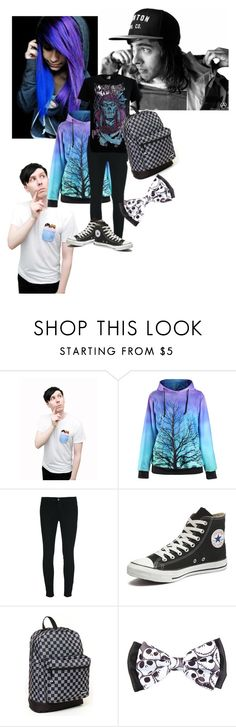 """/scene outfit"" by piercethegabby ❤ liked on Polyvore featuring ADAM, J Brand, Converse and Yak Pak"
