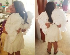 Aprenda como fazer asas de anjo para festas a fantasia, carnaval ou halloween. Fácil de fazer. Fantasia para crianças. DIY