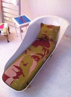 Chaise Longue made from Cast Iron Bath