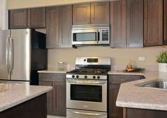 Over the Range Microwaves Kitchen Cabinets Brands, Kitchen Cabinet Colors, Painting Kitchen Cabinets, Ikea Cabinets, Kitchen Colors, Kitchen Gadgets, Big Kitchen, Kitchen Decor, Condo Kitchen