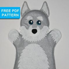 Looking for your next project? You're going to love Husky Dog Felt Hand Puppet by designer TusPuppetLady.