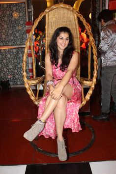 "Tapasee Panuu at Music Launch of Movie ""Chashme Baddoor""."