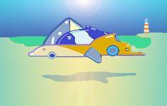 """"""" Formas Cetaceas"""" - ilustracion digital."""