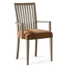 Saloom Furniture Model 24 Arm Chair Upholstery: Impression, Finish: Nantucket