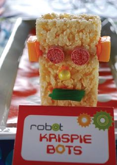 This Rice Krispies® robot is made with 3 simple ingredients and any candy your kids want to use! It's a fun and easy party activity everyone will love or a great food craft for a rainy spring day.