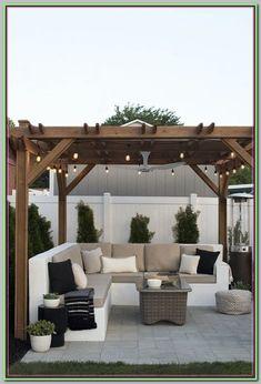 Pergola DIY Attached To House Design - Pergola Shade Screen - - Backyard Decor, Diy Pergola, Terrace Design, Small Backyard, Outdoor Decor, Patio Design, Outdoor Patio Decor, Pergola Designs