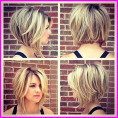 Stacked Bob Hairstyles For Women, With a couple styling tricks you're able to transform the medium hairstyles in various styles. The medium hairstyles are a rather excellent alternate . Bob Haircuts For Women, Cute Haircuts, Round Face Haircuts, Short Bob Haircuts, Hairstyles For Round Faces, Bob Haircut For Round Face, A Line Haircut Short, Swing Bob Haircut, Short Hairstyles For Women
