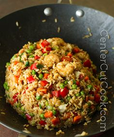 And tonight's dinner- Chinese fried rice! Rice Recipes, Asian Recipes, Chicken Recipes, Cooking Recipes, Healthy Recipes, Recipies, Dinner Recipes, Arabic Recipes, Cooking Rice