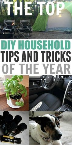 The best DIY household tips and tricks of the year! Some great ones in here!