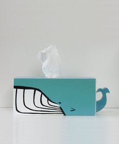 PRE-ORDER - Humpback Whale Tissue Holder - Ships April 16th