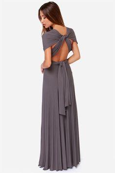 Tricks of the Trade Grey Maxi Dress