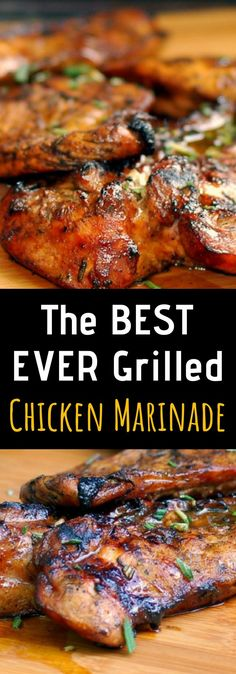 The BEST EVER Grilled Chicken Marinade – Net Feed Daily - yum yum - Chicken recipes healthy Best Grilled Chicken Marinade, Chicken Marinade Recipes, Grilling Recipes, Cooking Recipes, Marinade For Chicken Thighs, Chicken Breasts, Bbq Marinade, Grilled Chicken Recipes Healthy Clean Eating, Grilled Meat