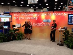 LeaseStar Social booth at NAA with some awesome RealPage Sales Engineers — at San Diego Convention Center Ed Spiegel #asseenatnaa