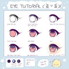Amazing Learn To Draw Eyes Ideas. Astounding Learn To Draw Eyes Ideas. Eye Drawing Tutorials, Digital Painting Tutorials, Digital Art Tutorial, Painting Tools, Drawing Techniques, Drawing Tips, Art Tutorials, Anime Tutorial, Draw Tutorial
