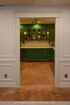 Cased Opening Progress (Patched Hardwood Floor & Door Casing Installed)