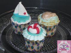 Cupcakes inspirados en  el mar.