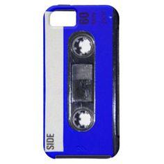 Vintage 80's Blue Label Cassette iPhone 5 Case