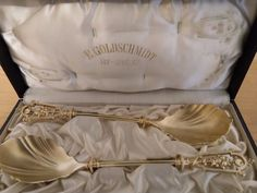 wow      205e   500g   Besondere Besteck silber 800 vergoldet um 1890 RARITÄT 552 Gr. 50th, Snoring, Silver