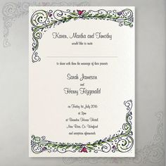 This busy little invitation is printed on Oyster Shell pearlescent card. Wedding Invitation Samples, Unique Wedding Invitations, Card Wedding, Wedding Stationery, Lavender Cottage, Cottage Wedding, Love Story, Shell, Reception