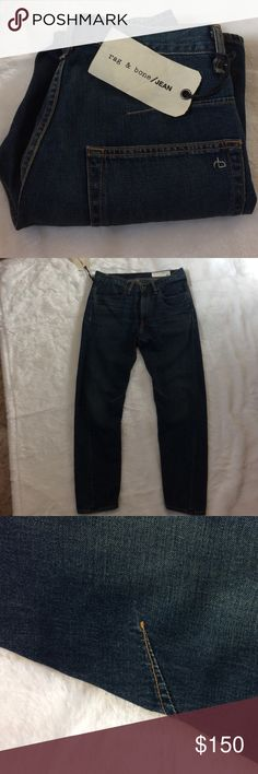 NWT rag & bone jeans worn blue NWT •RN #108879 cut/coupe #12482 •has extra cotton from tag at the back •inseam approx 26 1/2 •please ask questions prior to purchasing rag & bone Jeans