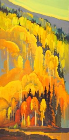 Autumn Patterns Off Lime Creek #2 - Stephen Quiller #tree #art