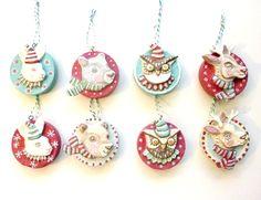Woodland Animals paper mache Ornaments by Melissa kojima