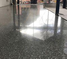 Polert betonggulv