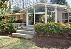 1960's Mid-Century Modern Ranch in Robinson Woods in South Charlotte. Near Strawberry Hill, Cotswold Mall, Southpark Mall