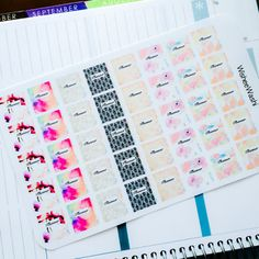 These little planner stickers are so cute!! These are great for planning your plan with me for instagram or youtube. Use them for planning out your