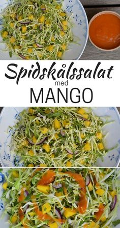 Spidskålssalat med mango - New Ideas Veggie Recipes, Vegetarian Recipes, Cooking Recipes, Healthy Recipes, Food N, Food And Drink, Waldorf Salat, Mango Salat, Recipes From Heaven