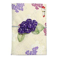 流美オリジナルの布製ご祝儀袋 Konuno金封 紫陽花 ムラサキ