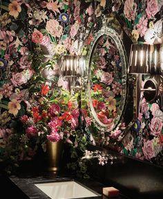 """KENFULK on Instagram: """"Lacroix darling..."""" Powder Room Vanity, Powder Rooms, Tapestry, Wallpaper, Paper Walls, Painting, Vanities, Instagram, Aesthetics"""