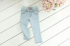 Girls Jeans with Elastic Waist