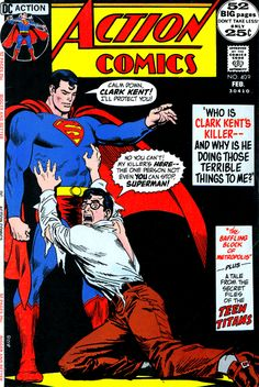 Action Comics Superman Cover by Nick Cardy National Periodical Publications DC, February 1972 Comic Book Pages, Dc Comic Books, Comic Book Artists, Comic Book Covers, Comic Book Characters, Comic Artist, Dc Comics, Action Comics 1, Batman Comics