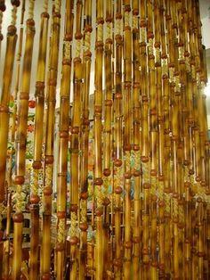 1000 images about cortinas on pinterest beaded curtains - Cortina de bambu ...