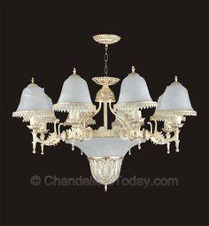 Alabaster Chandelier #250 8 3 Light