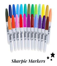 Sharpie Fine Permanent Markers, Fine Tip, Assorted Colors, set of Adult Unisex Sharpie Set, Sharpie Colors, Sharpie Markers, Stationary School, Doll Clothes Barbie, Barbie Dolls, Stabilo Boss, Permanent Marker, Wax Paper