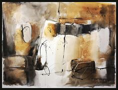 Shades of Ochre by sterling edwards Watercolor ~ 22 x 30