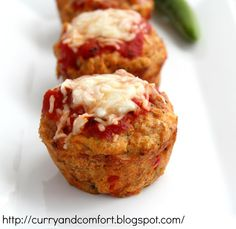 Curry and Comfort: Pizza Meatloaf Muffins
