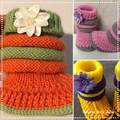 The Daily Knitter & Crocheter: Crochet booties - free pattern - step by step