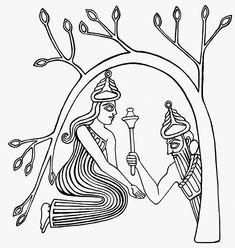 mesopotamian goddess drawing - Google Search