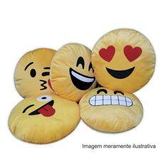 A Almofada Decorativa Whatsapp - Emoji Feliz foi feita para você que não fica de fora das tendências da moda! Afinal, todo mundo conhece as carinhas do Whatsapp não é mesmo?! Tenha em sua casa essa linda e divertida almofada e valorize sua decoração!  www.clickenxovais.com.br